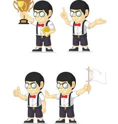 Nerd Boy Customizable Mascot 4 vector image vector image