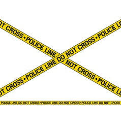 Police line - do not cross vector image vector image