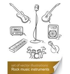 Rock music instruments vector