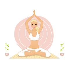 yoga lotos vector image