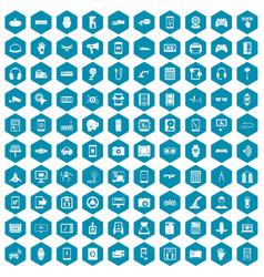 100 adjustment icons sapphirine violet vector