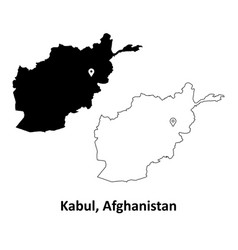 1008 kabul afghanistan map vector