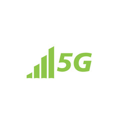 5g network icon design template isolated vector image