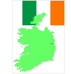 6140 ireland map and flag vector image