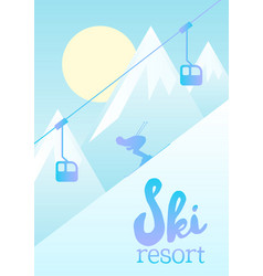 a ski resort vector image
