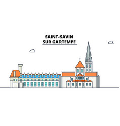Abbey church of saint-savin - sur gartempe lin vector