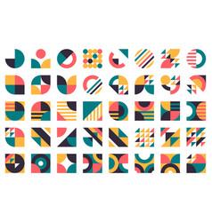 abstract bauhaus shapes modern circles triangles vector image