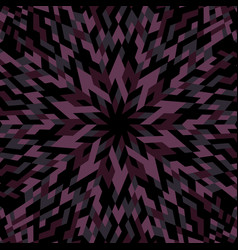 Abstract dynamic hypnotic round mosaic pattern vector