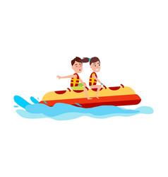 banana boat summer activity vector image