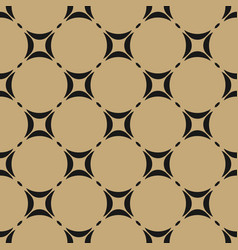 Black and gold geometric seamless pattern vector