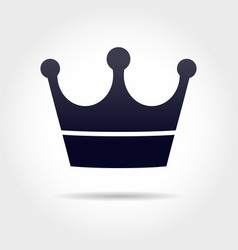 black crown vector image
