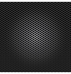 Black metal dot perforated texture vector