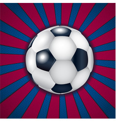 Blue and pomegranate background with football ball vector