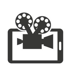 cinema online with smartphone vector image