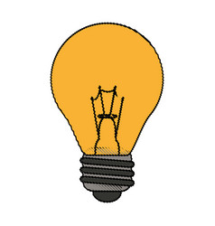 Color blurred light bulb on icon vector