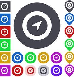 Color navigation icon set vector