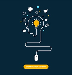 Creative idea concept inspiration process vector image