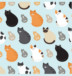 Cute pattern with cats vector