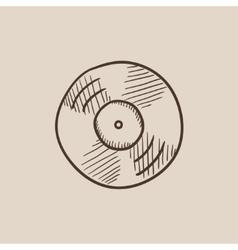 Disc sketch icon vector image