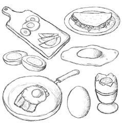 Eggs collection vector