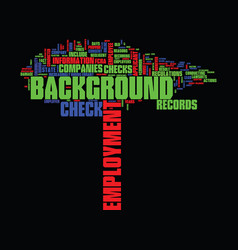 Employment background check text background word vector