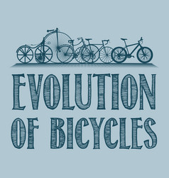 Evolution transport poster vector