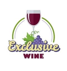 Exclusive wine logo icon symbol elite drink vector