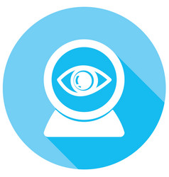 eye icons with long shadow vector image
