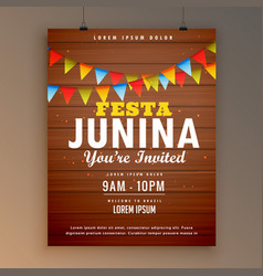 Festa junina party invitation poster flyer design vector