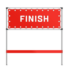 finish line with red banner vector image