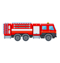 fire engine flat design isolated object on white vector image