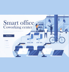 flat modern design coworking vector image