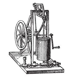 Force pump vintage vector
