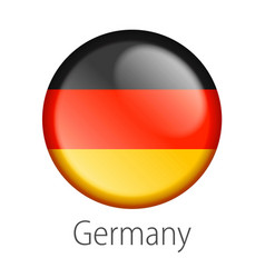 Germany round button flag vector