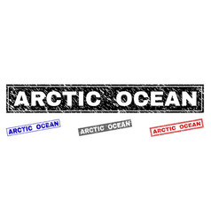grunge arctic ocean textured rectangle watermarks vector image
