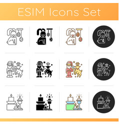 homeware and furniture icons set vector image