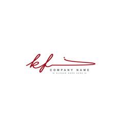 Initial letters kf logo - signature logo vector