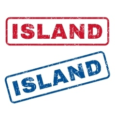 Island Rubber Stamps vector