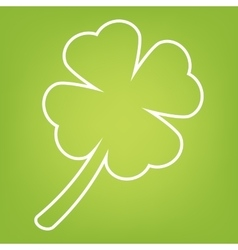 Leaf clover line icon vector image
