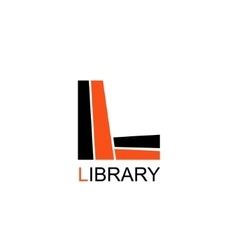 Library Education Logo Letter L consists of books vector image
