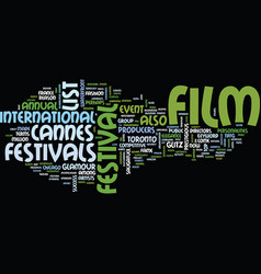 List of film festivals text background word cloud vector