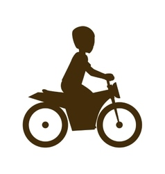 Man biker extreme sport vector
