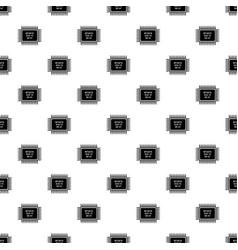 Micro microchip pattern seamless vector