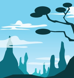 Moutain scene vector