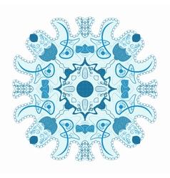 original lace ornament snowflake vector image