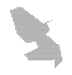 Pixel map of martinique dotted map of martinique vector