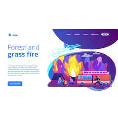 Prevention wildfire concept landing page vector