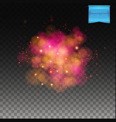 Puffy red burst on transparent background vector