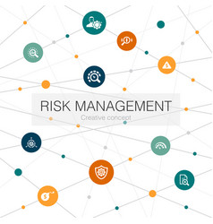 Risk management trendy web template with simple vector