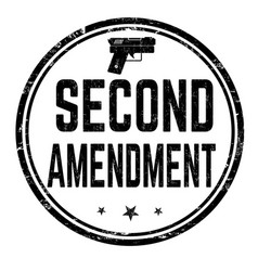 Second amendment sign or stamp vector